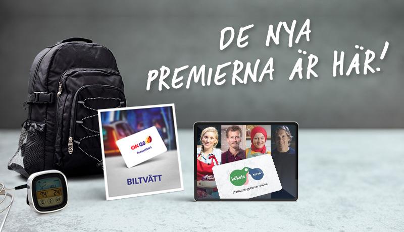 Findus Lunchklubb vårpremier; Kylryggsäck, digital kökstermometer, matlagningskurs hos koket.se, biltvätt hos OKQ8
