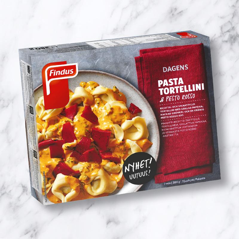 Findus Pasta Tortellini med pesto rosso
